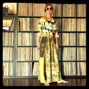 vintage custom renaissance maiden garden skirt XS